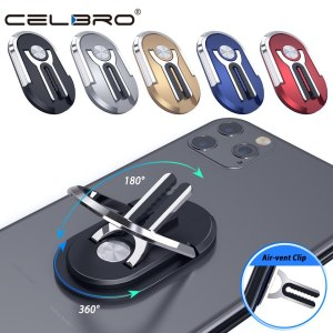 Support 2 en 1 à 360 degrés pour support de téléphone en métal