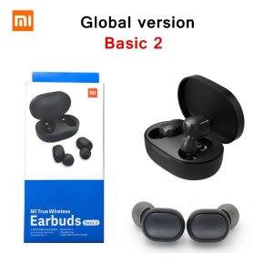 Xiaomi Basic 2 Version global casque sans fil Mi Bluetooth stéréo mini écouteurs avec microphone AI contrôle AirDots 2