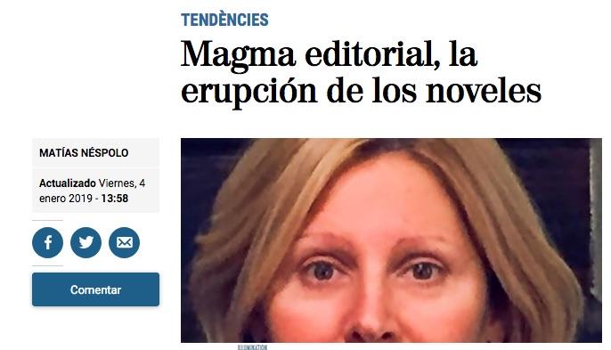 Magma editorial, la erupción de los noveles, por Matías Néspolo en El Mundo