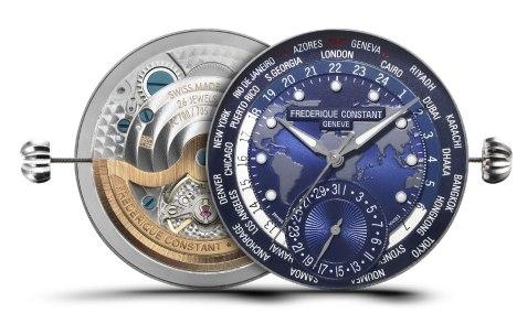 Frederique Constant Classics Manufacture Worldtimer Navy Blue