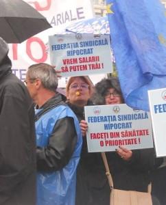 protest sindicalisti sanatate