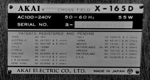 Akai X-165D--