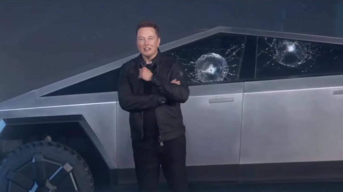 Tesla Cybertruck Armor Glass Break Demo