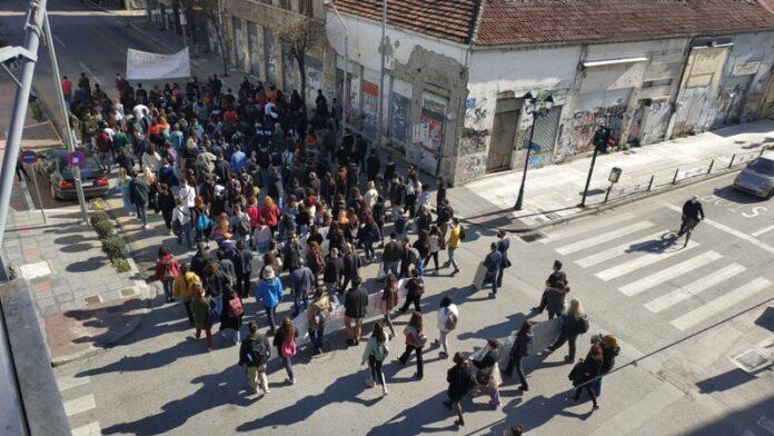 Σε εξέλιξη νέο συλλαλητήριο φοιτητών στον Βόλο