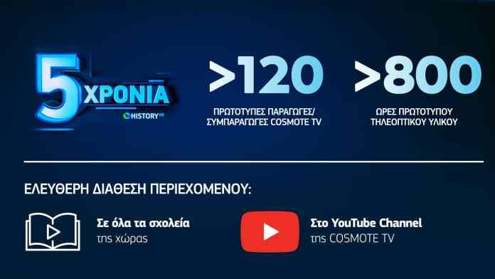 COSMOTE HISTORY: Το μοναδικό κανάλι με ντοκιμαντέρ για την ελληνική ιστορία και τον πολιτισμό