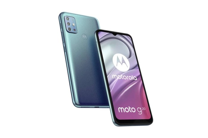 Motorola Moto G20: Διαρροή των τεχνικών του χαρακτηριστικών
