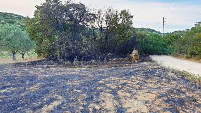 Φωτιά σε χόρτα και χαμηλή βλάστηση στον Αλμυρό