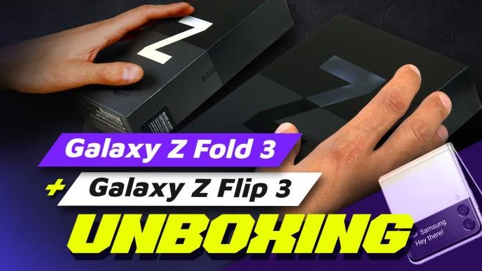 Samsung Galaxy Z Fold 3 και Z Flip 3 Unboxing