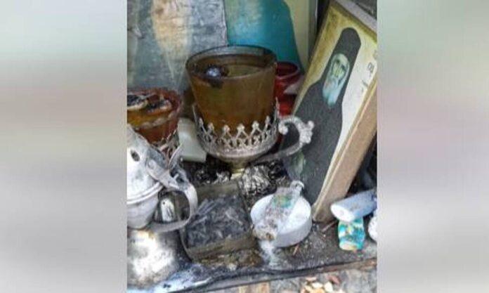 Κάηκαν τα πάντα εκτός από τις εικόνες του Οσίου Δαυίδ