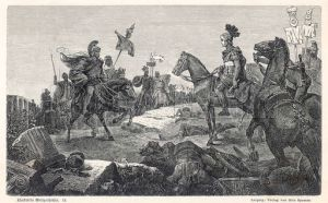Scipio Africanus meeting Hannibal at Battle of Zama
