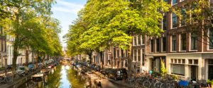 Summer Morning on Amsterdam Bloemgracht Canal