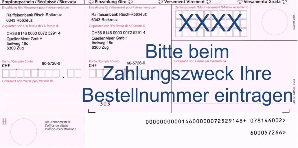 Einzahlungsschein Magnesium-Quelle.ch QuellenMeer GmbH
