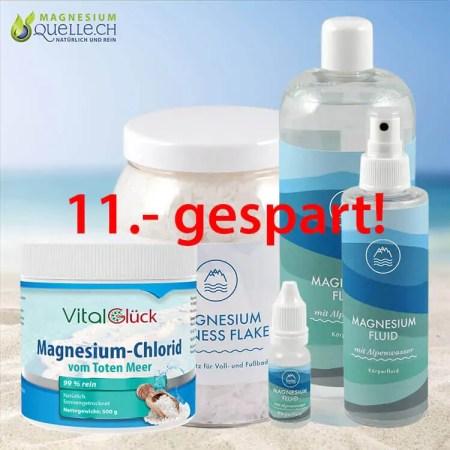Magnesiumöl Zechstein Magnesium Fluid 10+200+1000ml+ 1 kg Magnesium Flakes+500g Magnesiumchlorid vom Toten Meer