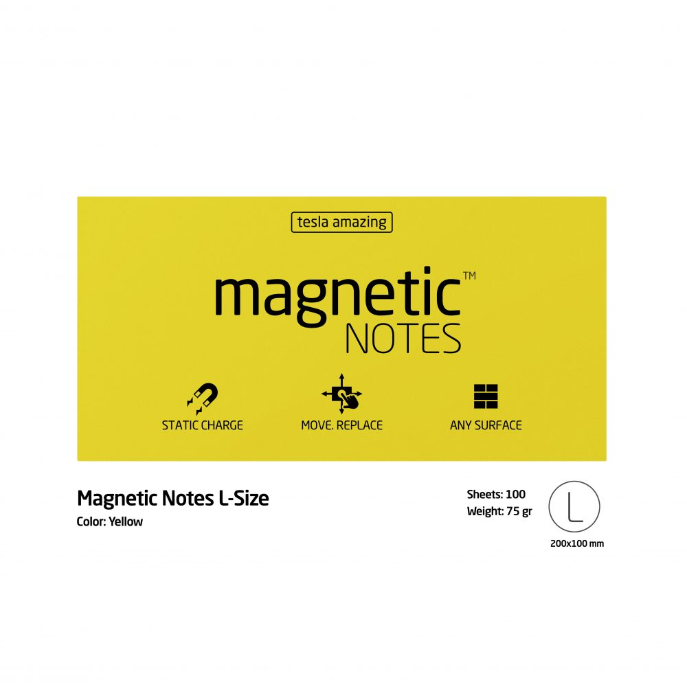 Magnetic notes large kuning