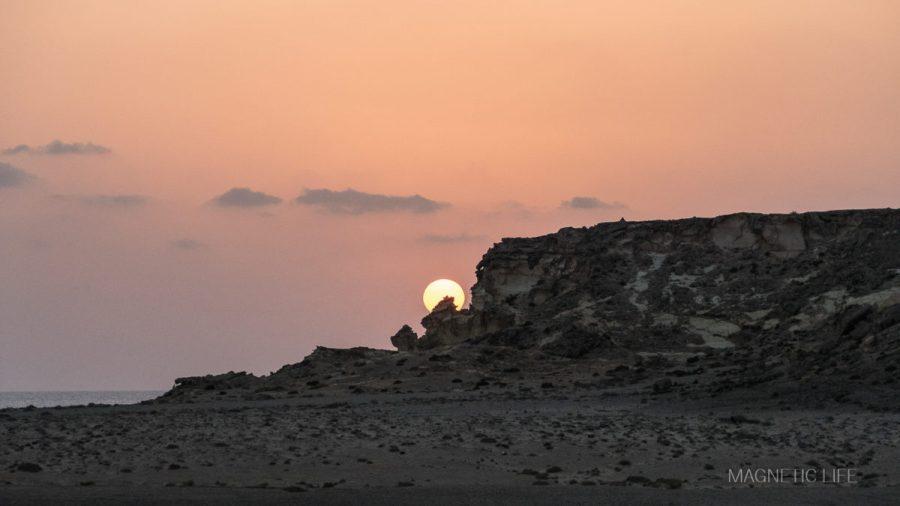 Wschód słońca wRas al Jinz