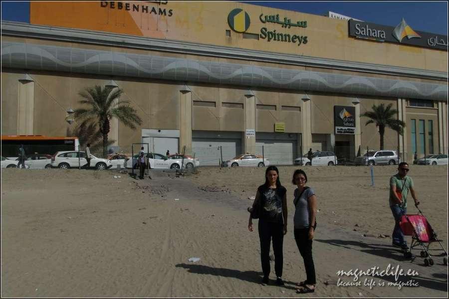 Granica między emiratem Dubaj aemiratem Szardża
