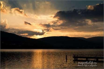Zachód słońca nad Jeziorem Międzybrodzkim