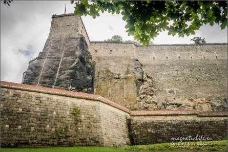 Twierdza Königstein Mury obronne