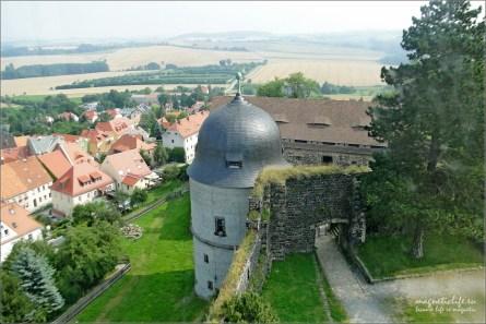 Zamek Stolpen i hrabina Cosel. Widok z wieży
