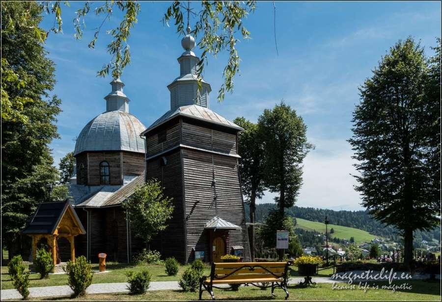 Atrakcje turystyczne wokół Muszyny Złockie cerkiew św Dymitra