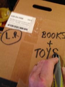 Labeling a box