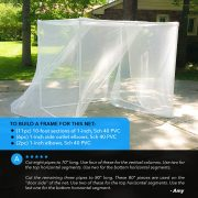 ultra large mosquito netting for patio
