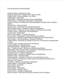 Liste des exposants Guémené Penfao