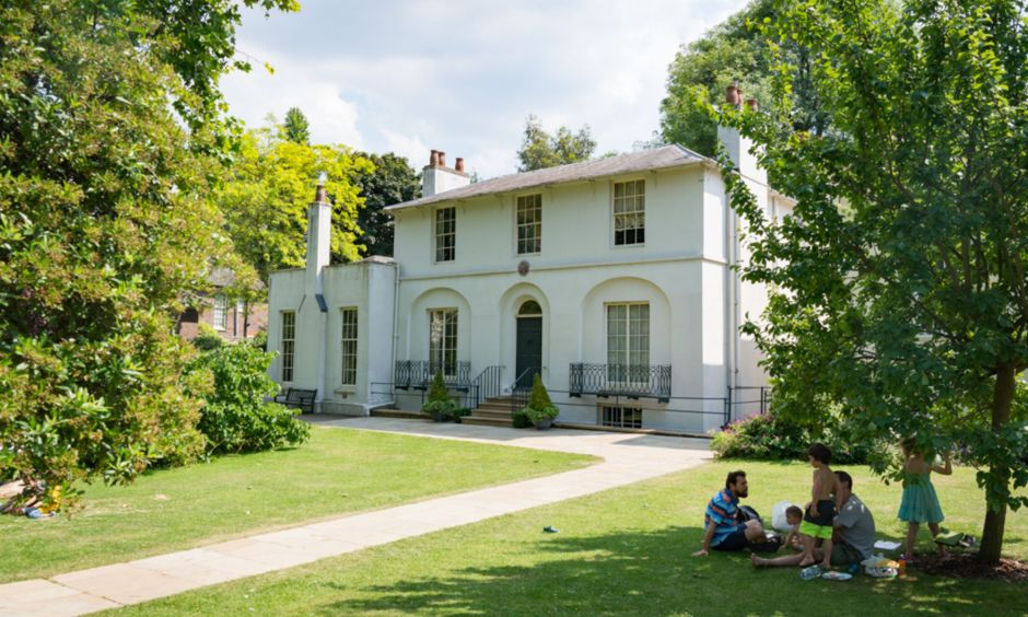 Keats House Garden sunny study break London students
