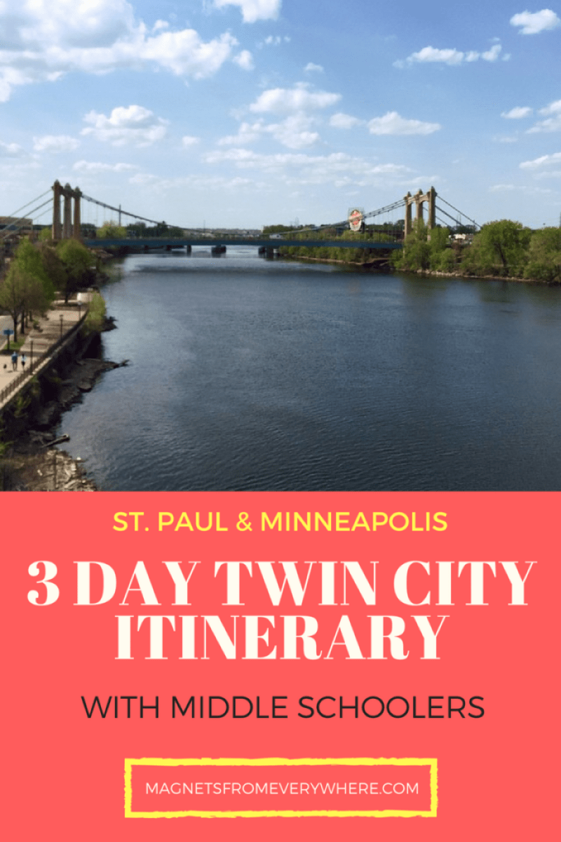 3 Day twin city itinerary
