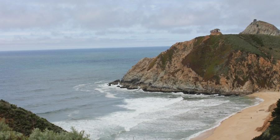 View of Gray Whale Cove Beach