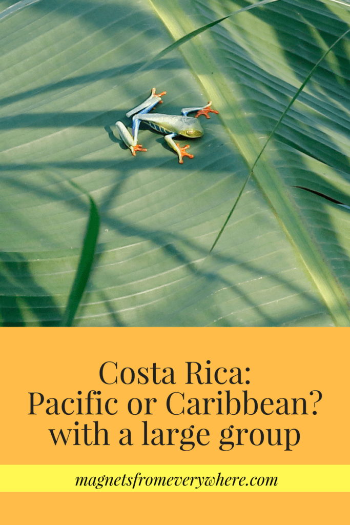 Costa Rica, Choosing the Pacific or Caribbean Coast with a large group