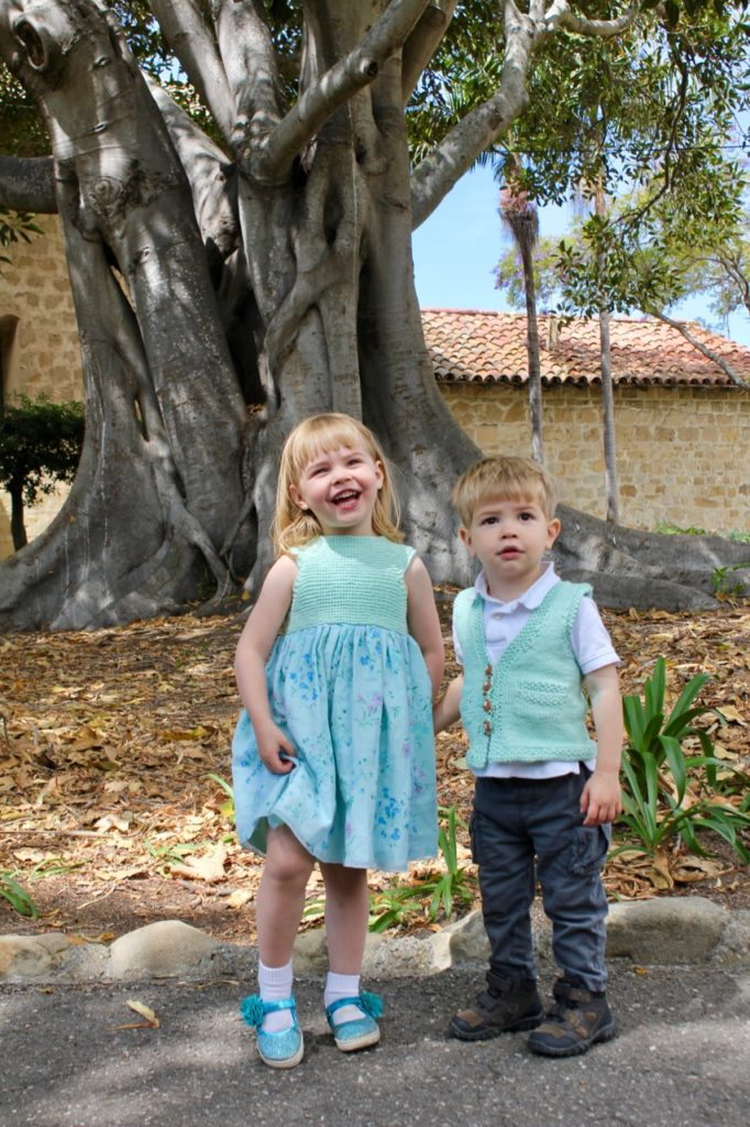 K and HJ at Mission Santa Barbara