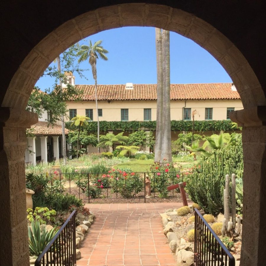 Mission Santa Barbara Courtyard