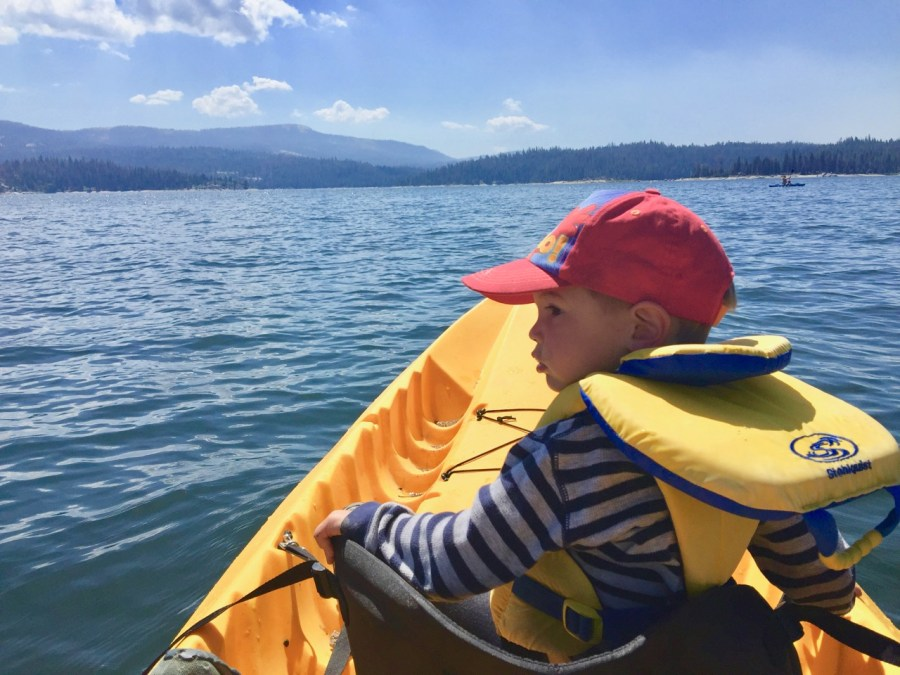 K in Kayak on Shaver Lake