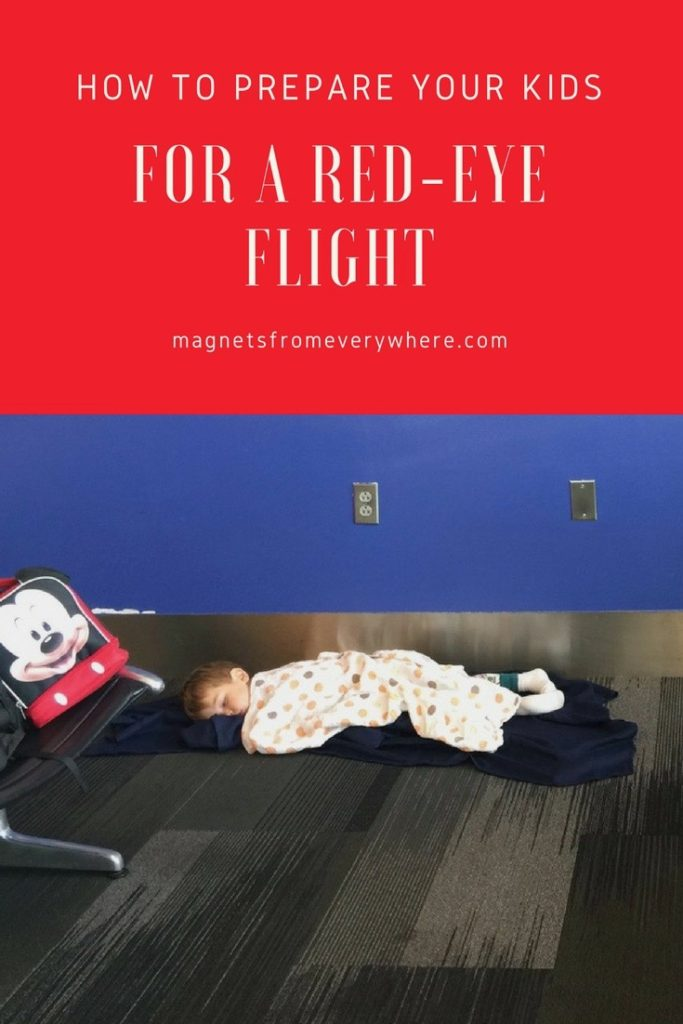 Tips for a red eye with kids