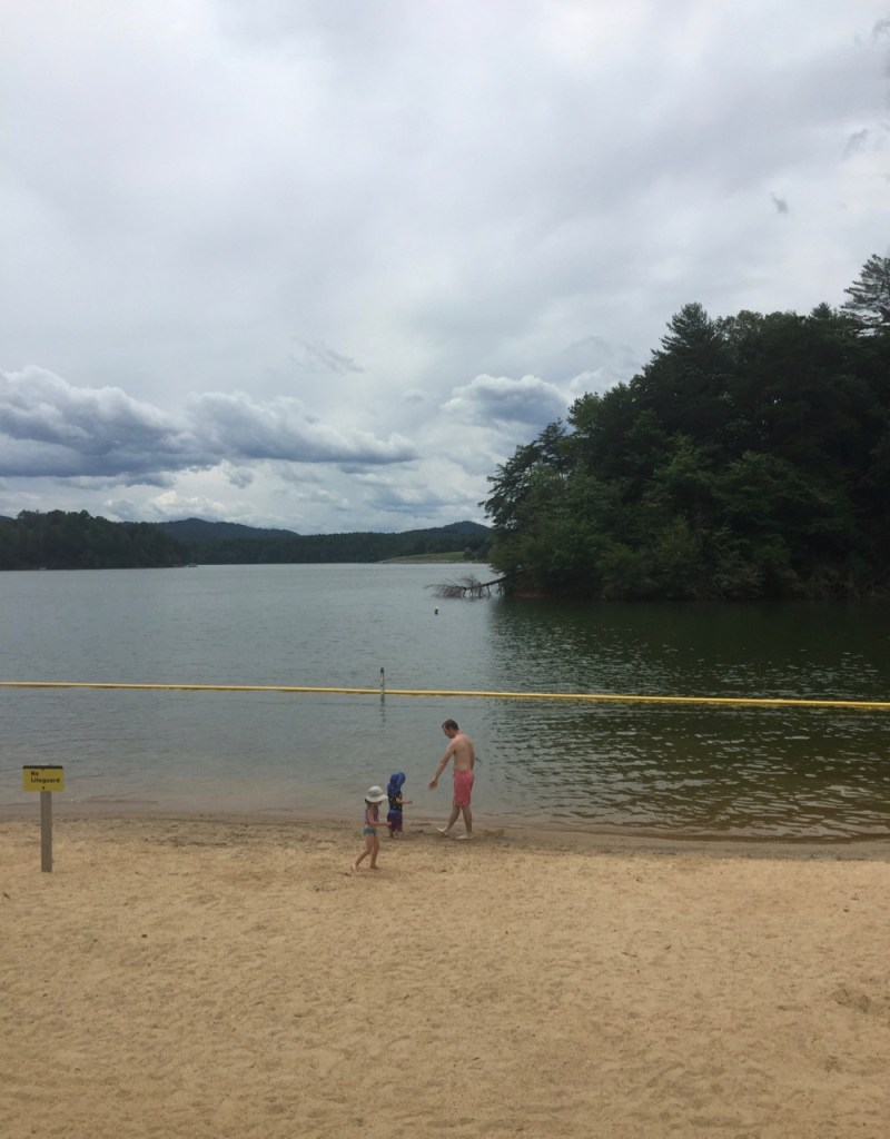 Taking a swim at W. Kerr Scott Dam & Reservoir
