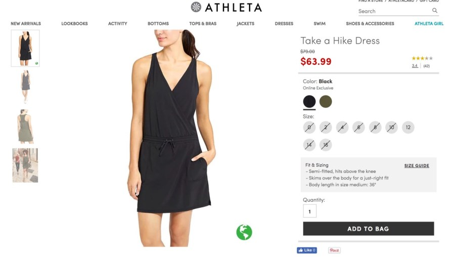 Athleta Take a Hike