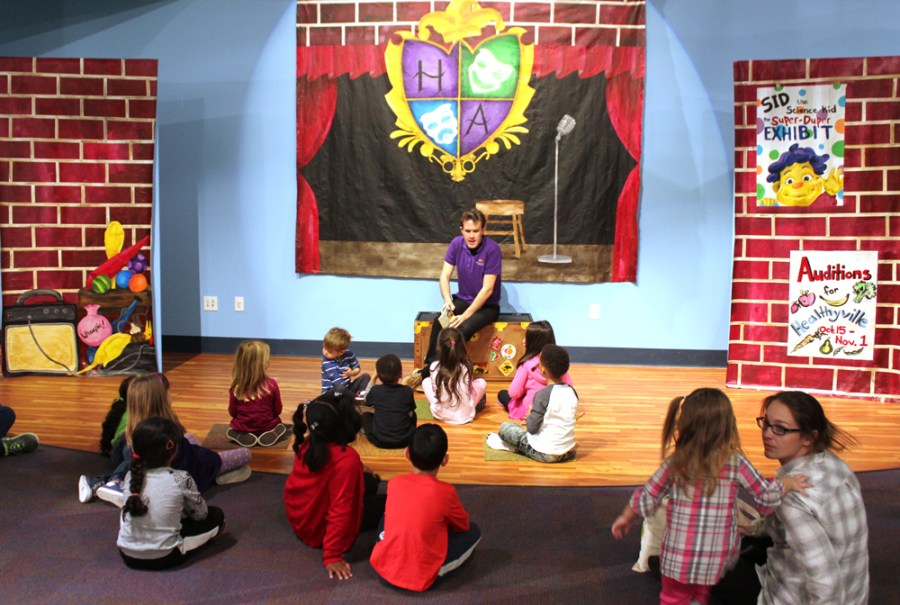 Storytime at the Children's Museum of Atlanta.