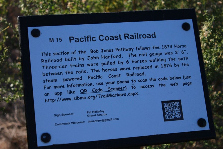 Bob Jones Trail Marker Sign