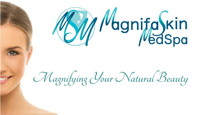 mobile banner for MagnifaSkin MedSpa; a medical spa in Wilmington, DE