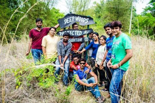 US Moinuddin, Vishnu Soman, Vishal Soman and Surendra Murugananda with the VFC team in the Magnifique Public School campus
