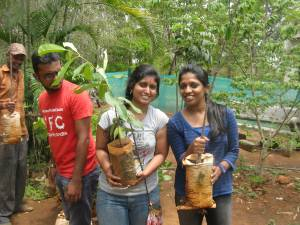 Madhushree and Ashley on the Green Day