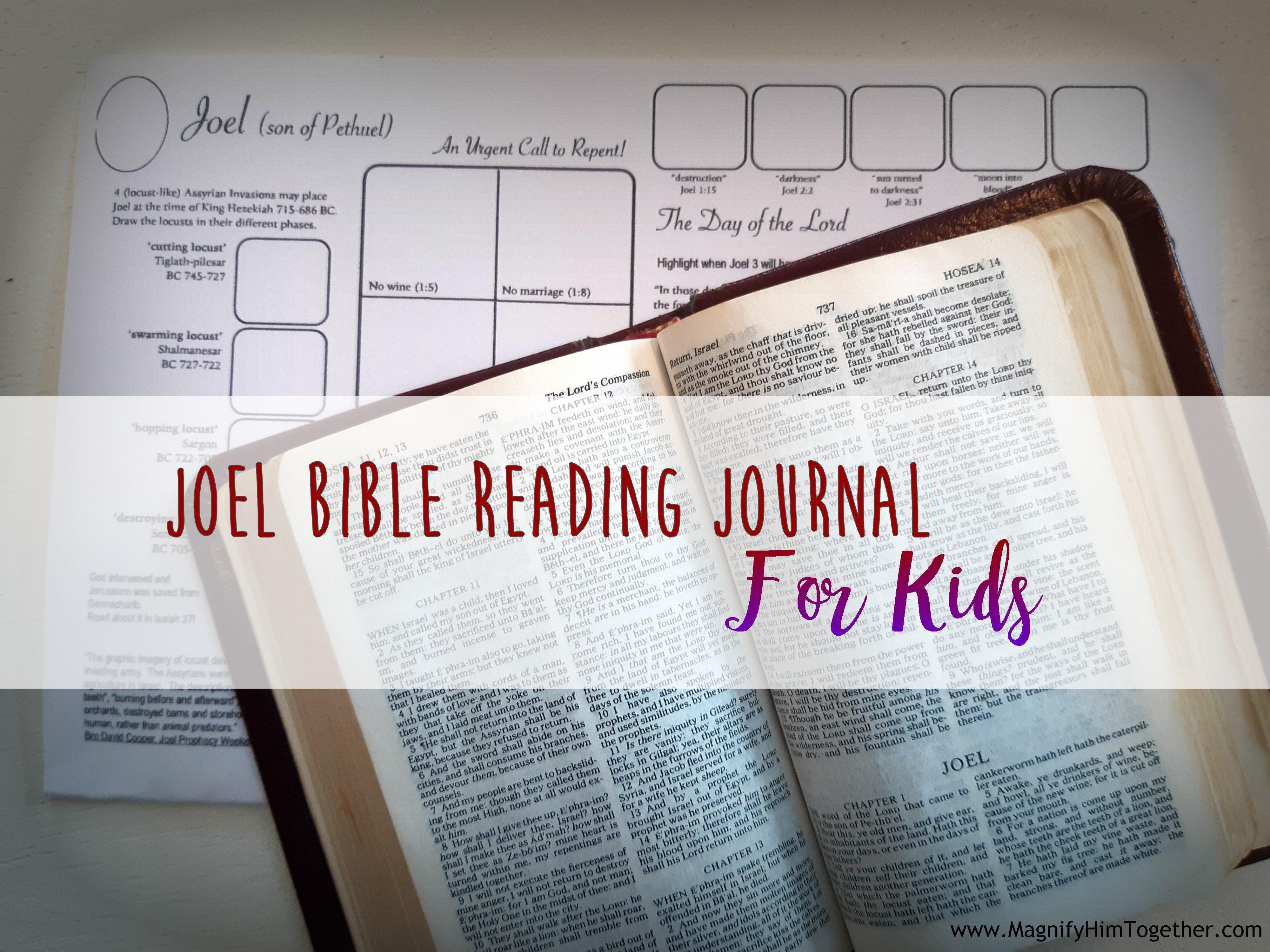 Joel Bible Reading Journal for Kids – Magnify Him Together