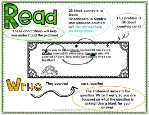 example of using close reading skills to solve word problems