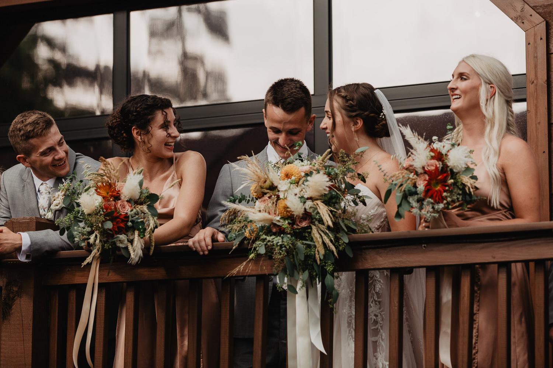 wedding party portraits at the magnolia venue