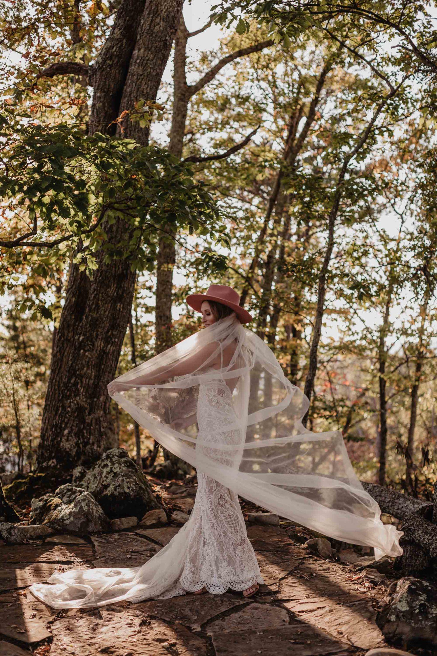 bohemian bride Galia Lahav wedding dress