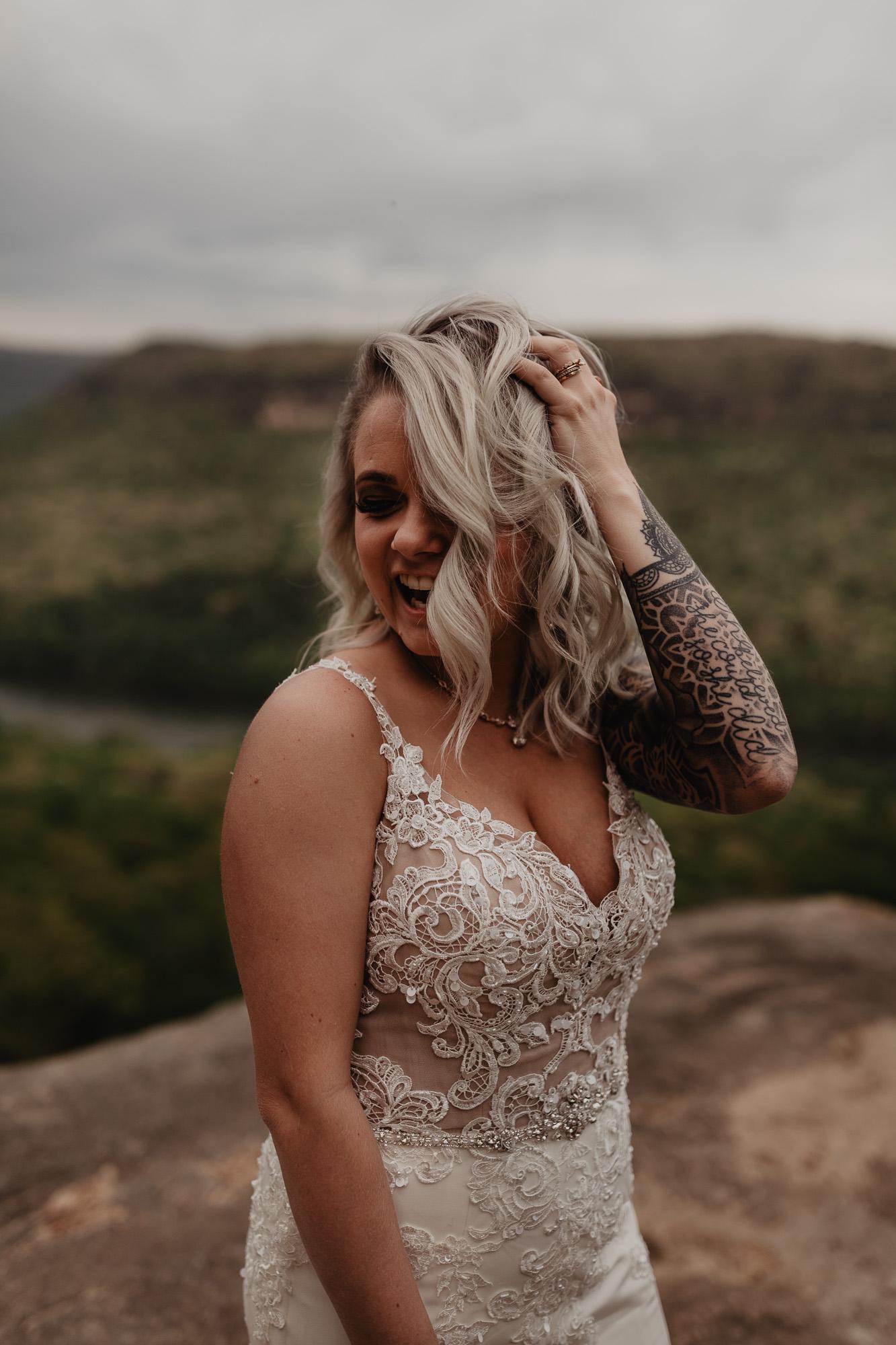 LGBT Wedding Snoopers Rock Tennessee   Adventure Elopement Photo