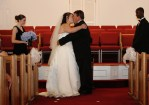 Our FIRST kiss as Mr & Mrs Long