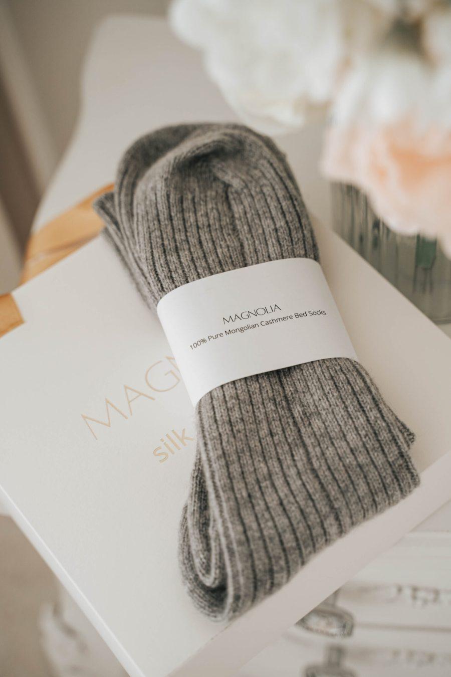 Mongolian cashmere bed socks