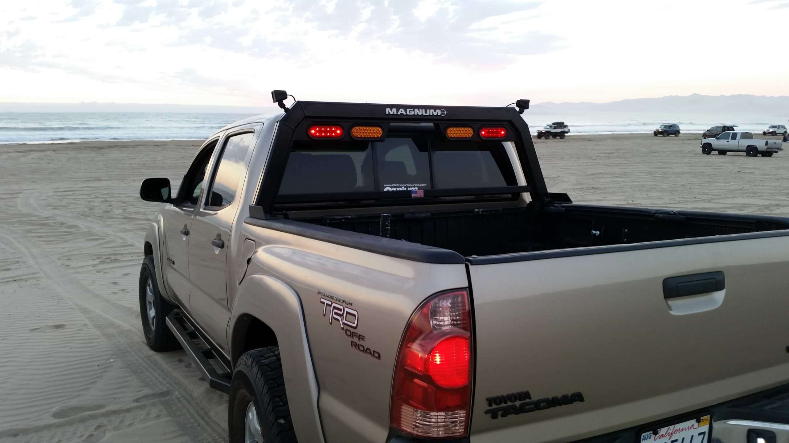 hollow point truck rack with lights high pro